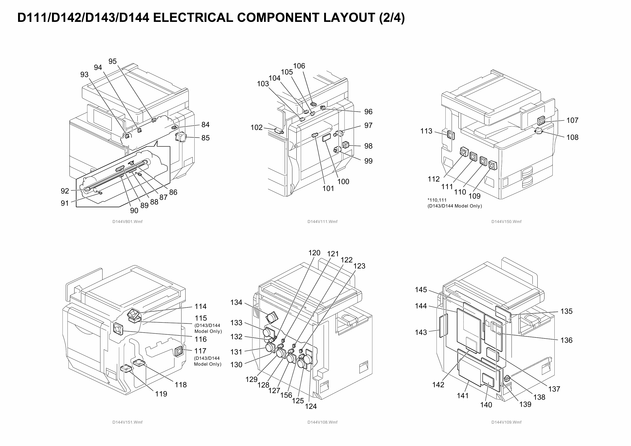 RICOH Aficio MP-C4502 C5502 D143 D144 Circuit Diagram
